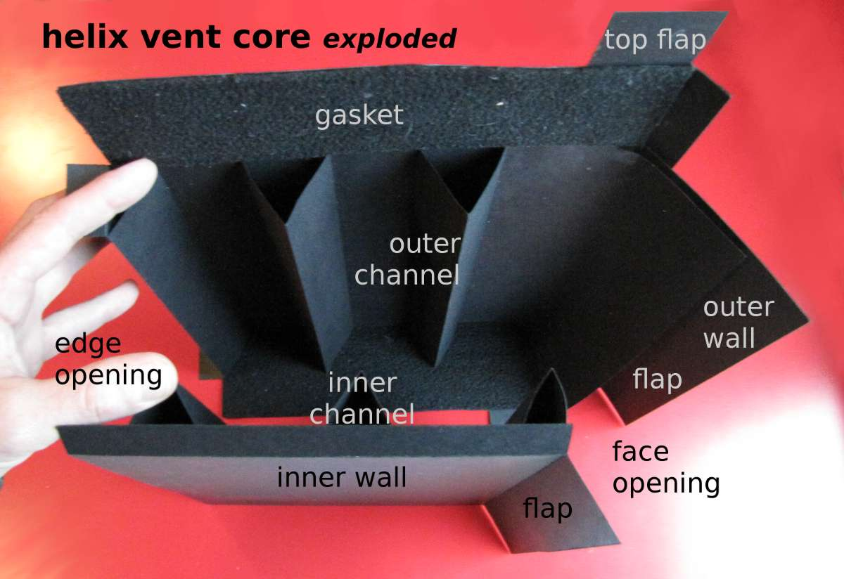 photo: helix vent core, exploded