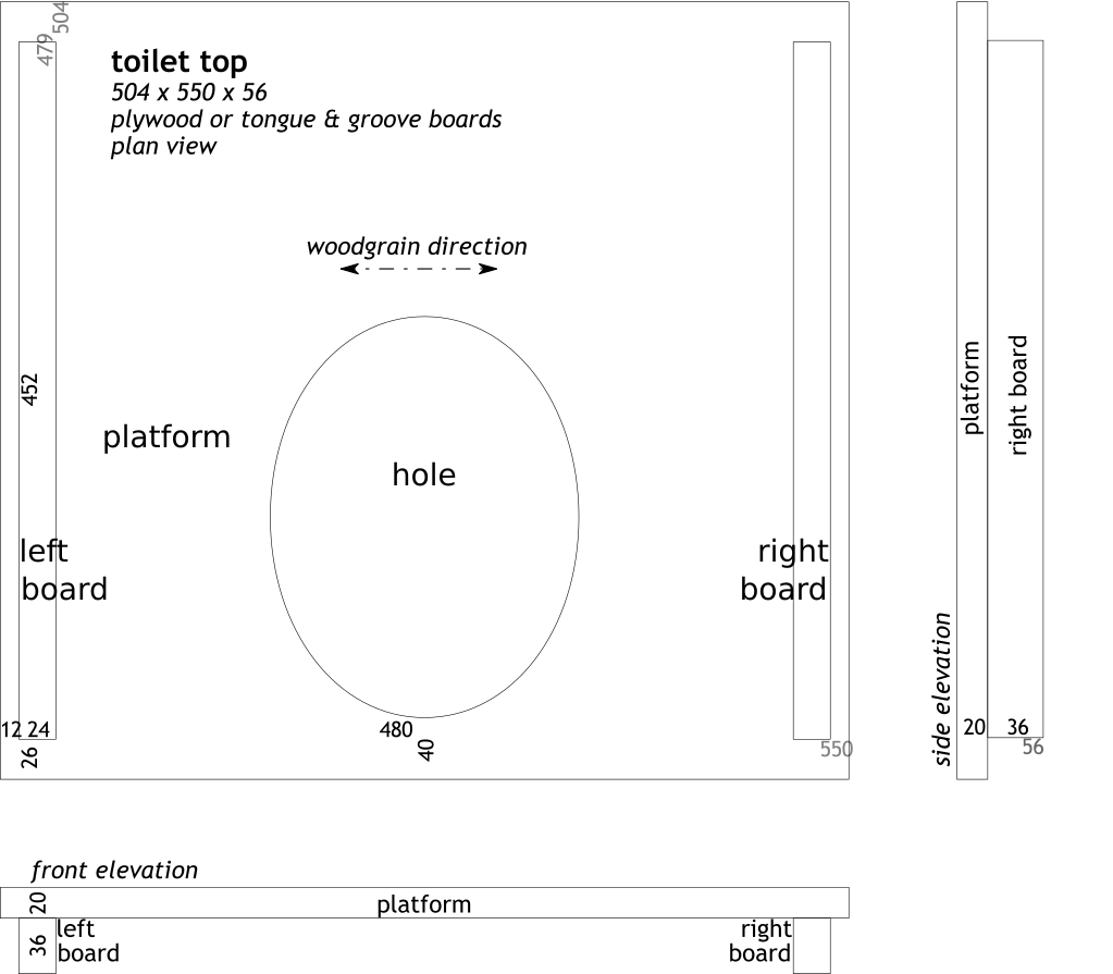 plan: toilet top